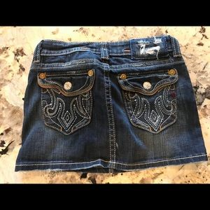 MEK denim mini skirt